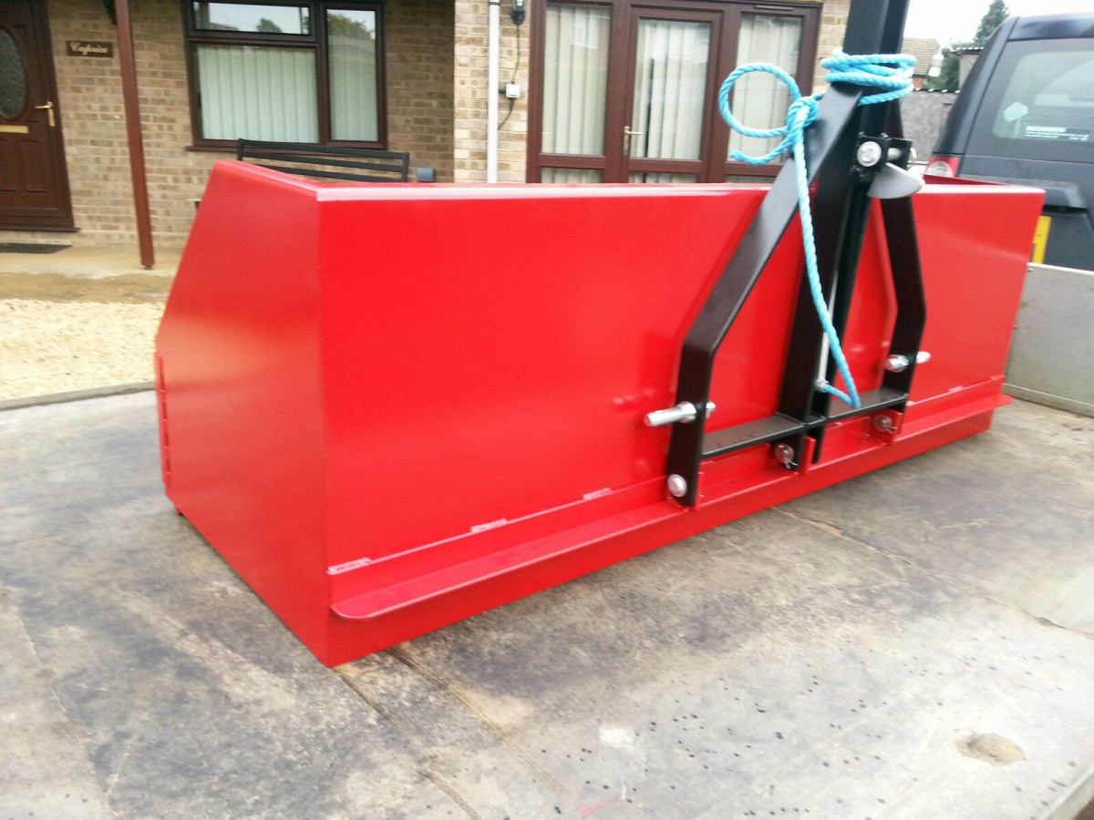 6 Ft. Transport Box 3 Point Linkage Tractor Mounted Tipping Action Farm /Field Impliment CAT 1 / 2