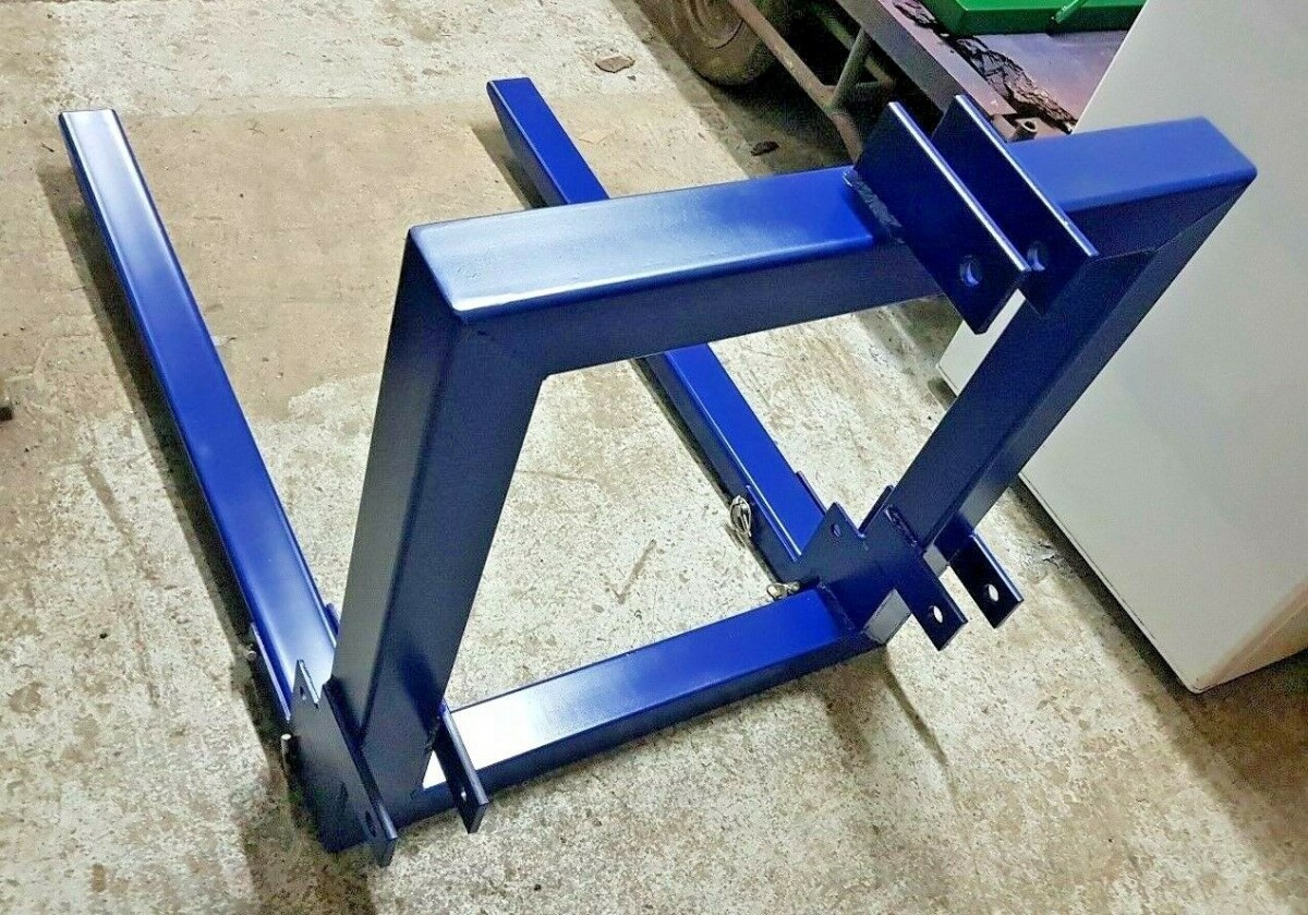 Fold Up Forks Tractor Attachment Hook Tow Trailer Hitch 3 Point Lifting 800mm