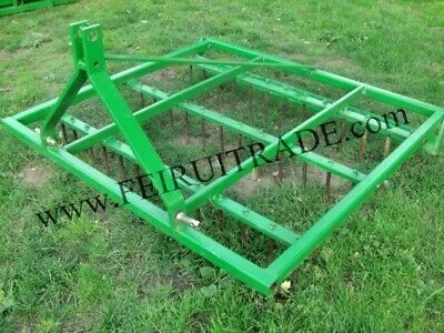 6 Ft. Drag Harrow Spike Tine 3 Point Linkage Hitch Aerator Equstrian For Farm Field Paddock Play Ground Tractor Implement CAT 1 / 2